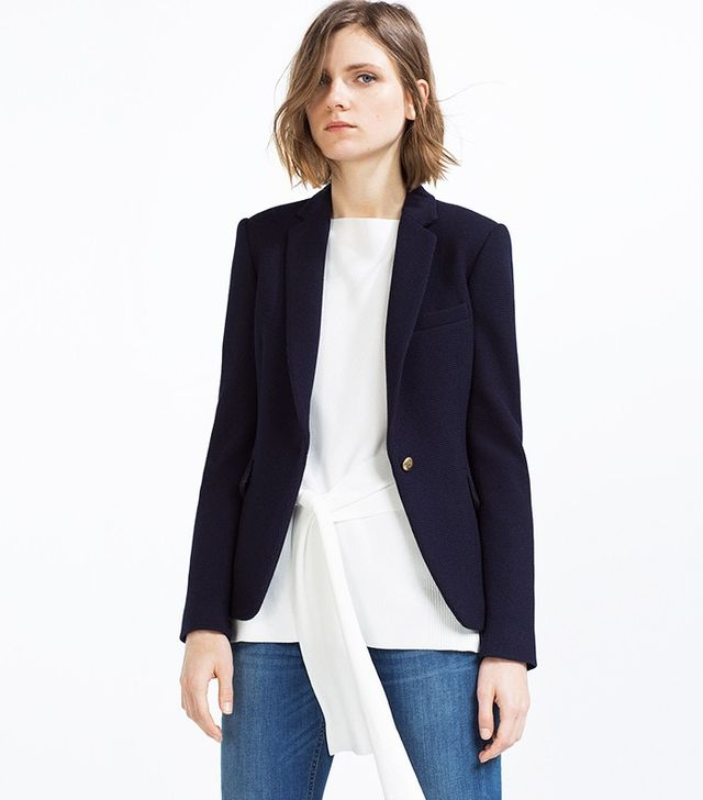 Zara Blazer With Button