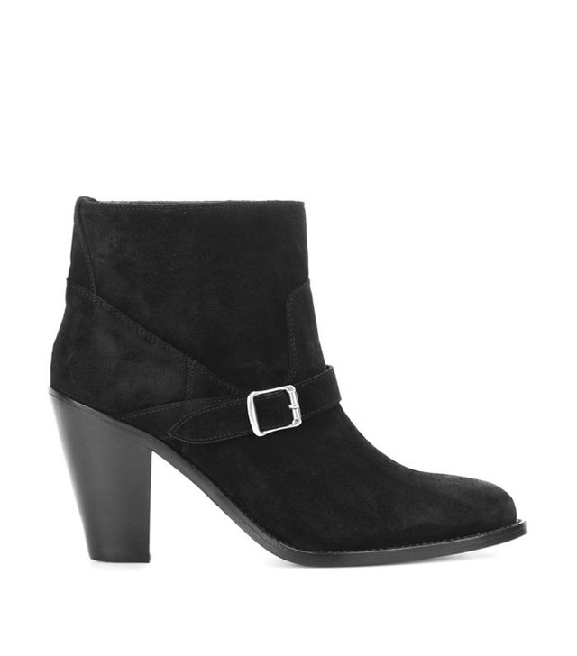 Saint Laurent New Western 80 Suede Ankle Boots