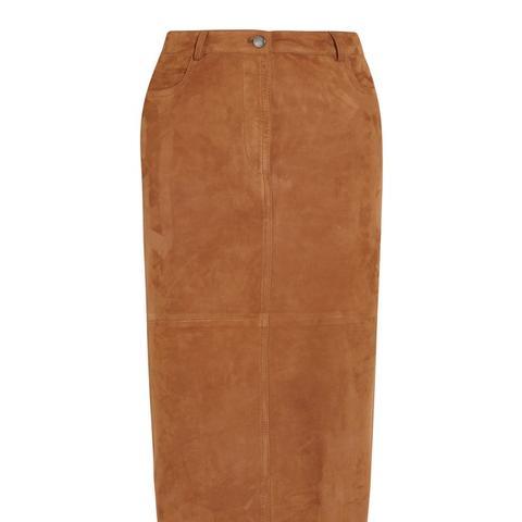 Clan Suede Midi Skirt