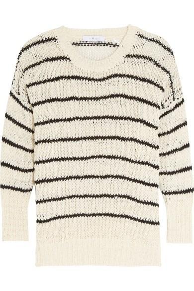IRO Odessa Striped Cotton-Blend Sweater