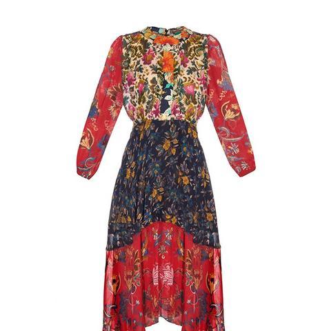 Ometa Print Georgette Dress