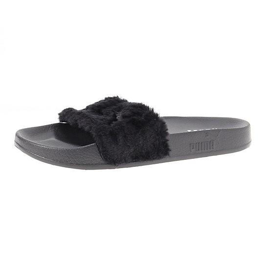 Puma Fur Slides by Fenty Women's Sandals in Black