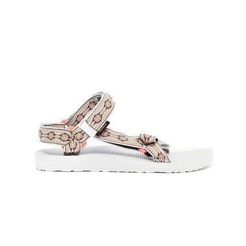 Original Universal Beige Print Flat Sandals