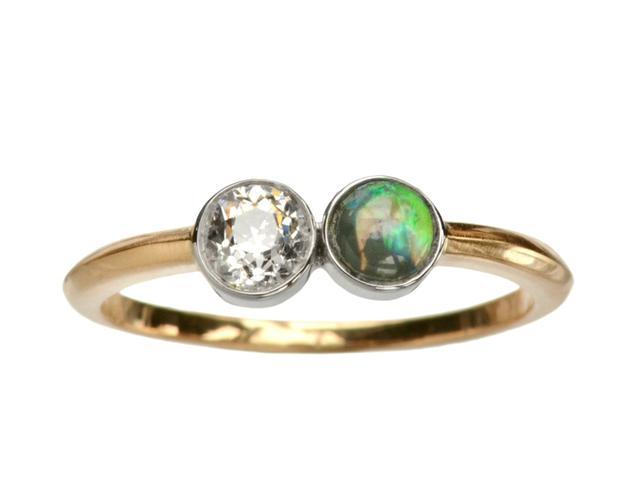 Erie Basin EB Diamond & Opal Ring