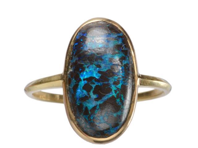 Erie Basin EB Boulder Opal Ring