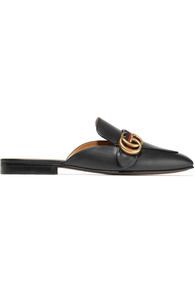 Gucci Peyton Leather Slippers