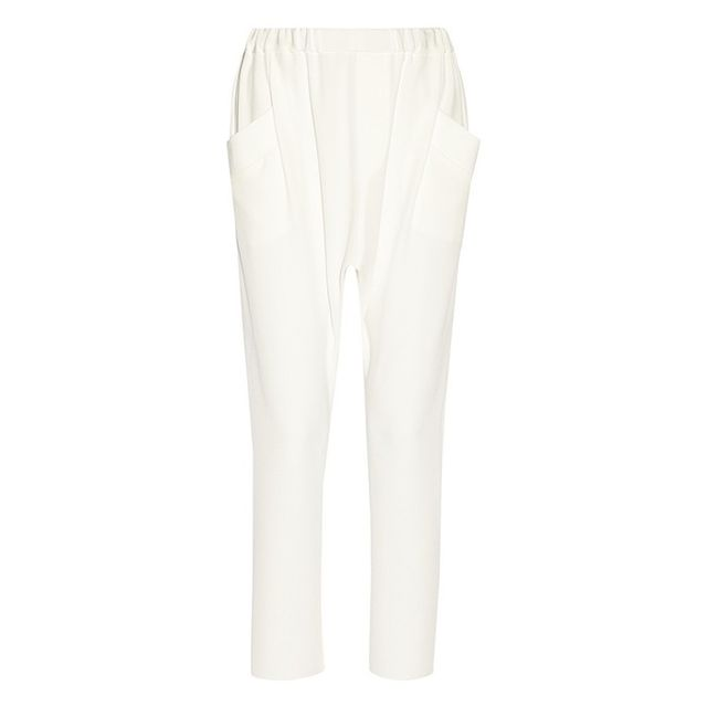 Baja East Layered Striped Cotton-Blend Tapered Pants