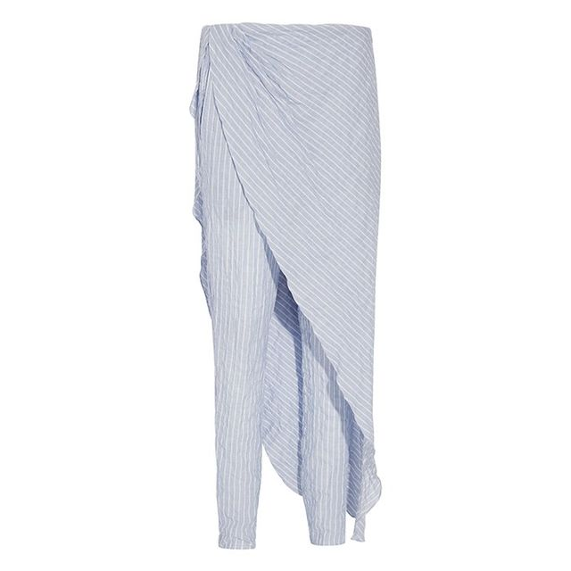 Baja East Crepe Straight Leg Pants