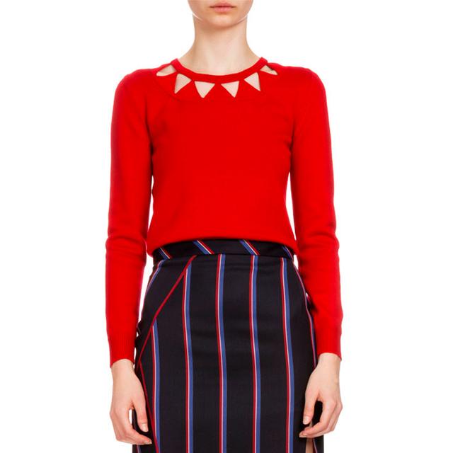 Altuzarra Long-Sleeve Diamond Cutout Sweater
