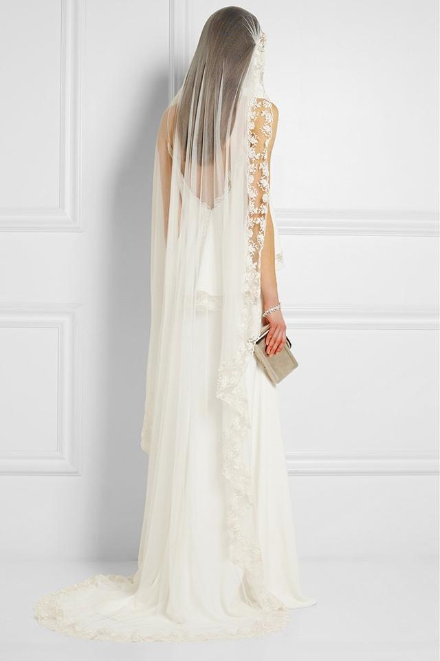 Rime Arodaky Baum Embroidered Silk-Tulle Veil