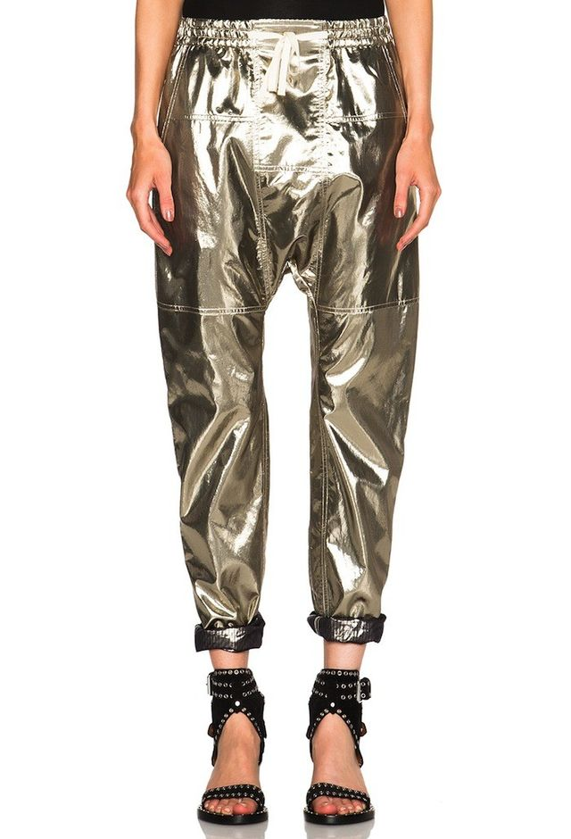 Isabel Marant Niall Metallic Silk Trousers