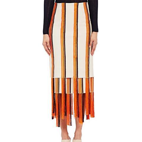 Embroidered Canvas Orella Skirt