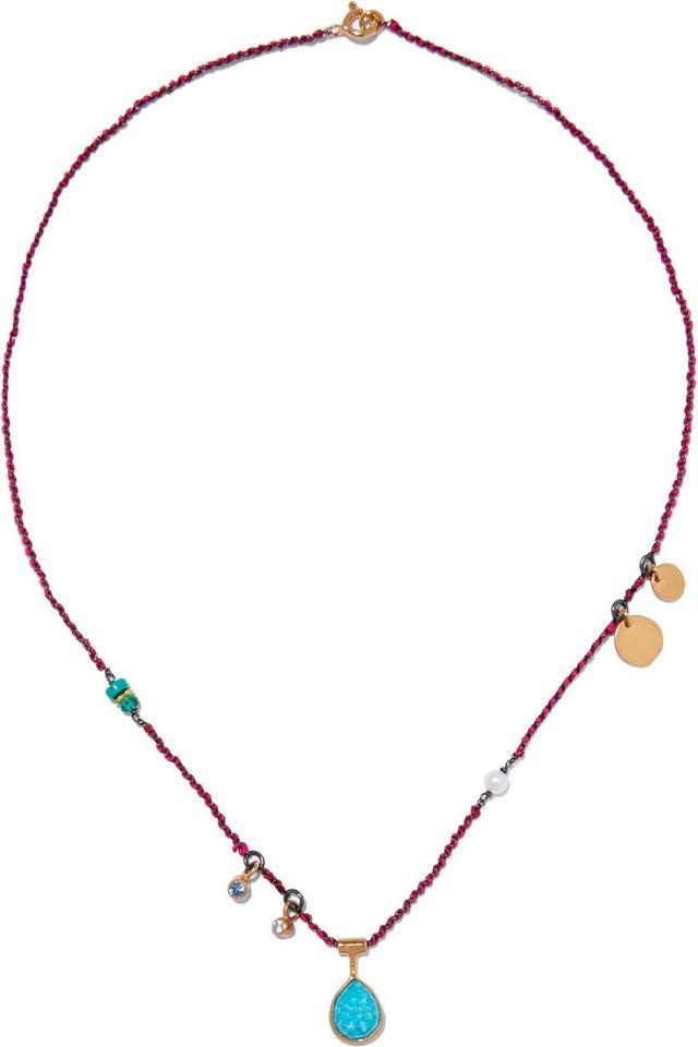 Katerina Makriyianni Gold-plated Multi-Stone Necklace