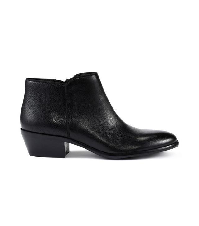 Sam Edelman Petty Bootie in Black Leather