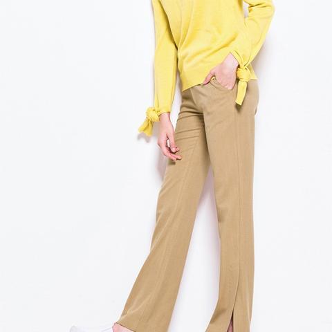 Camel Hem Slit Flare Pants
