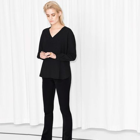 Flared Side Zip Trousers