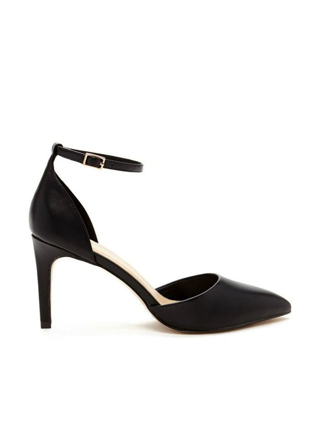 Forever 21 Faux Leather Ankle Strap Pumps