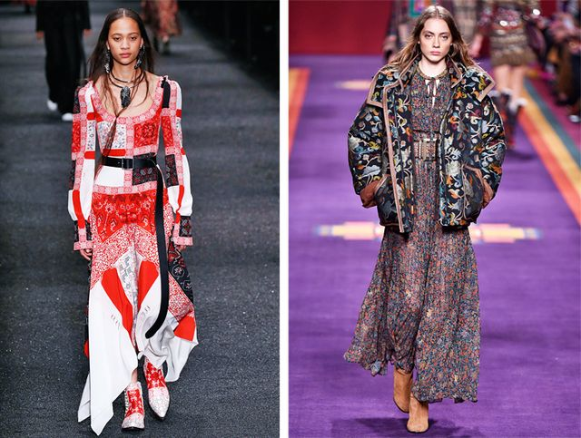Valentino and Etro S/S 16 shows had strong bohemian vibes.