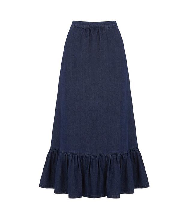 Warehouse Ruffle Hem Skirt