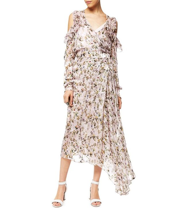 Preen by Thornton Bregazzi Mauve Floral Satin Dress