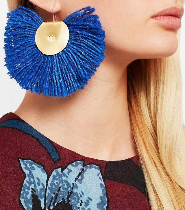 Katerina Makrigianni Hand Fan Earrings
