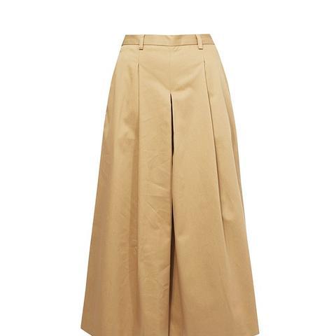 Beige Basic Culottes