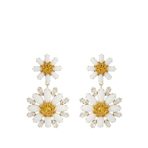 Embellished Daisy Earrings