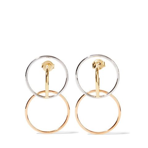 Galilea Gold-Plated and Silver Hoop Earrings