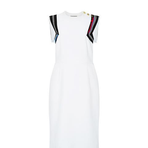 White Datany Back Detail Dress