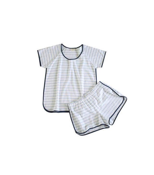 Lake Shorts Set Marine Stripe Pajamas