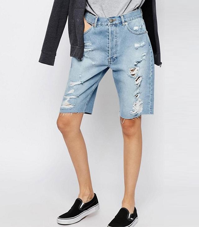 ASOS Denim Longline Shorts