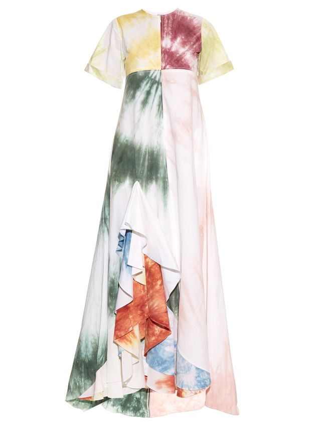 Rosie Assoulin Gonzo Tie-Dye Dress