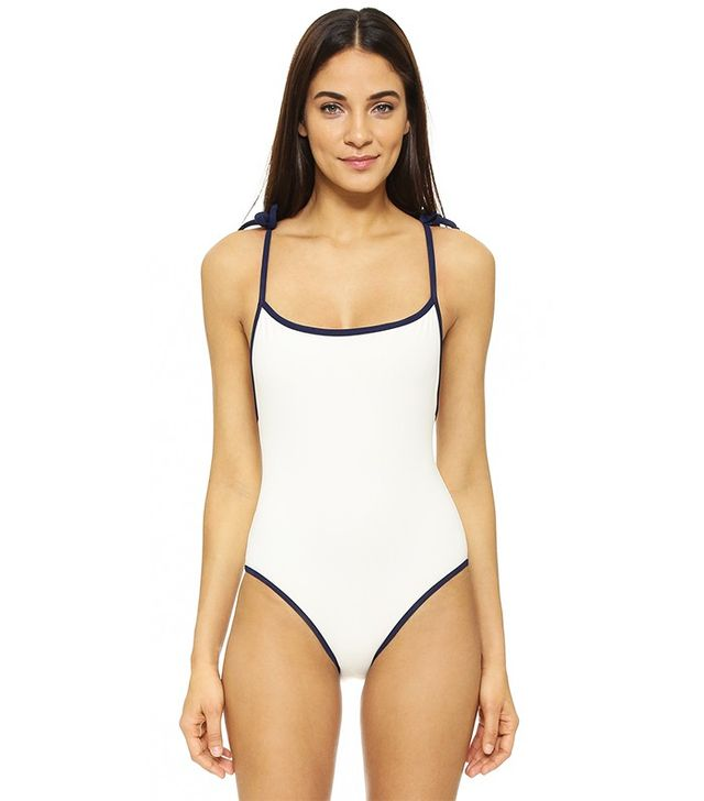 Solid & Striped Poppy Delevingne Tie Swimsuit