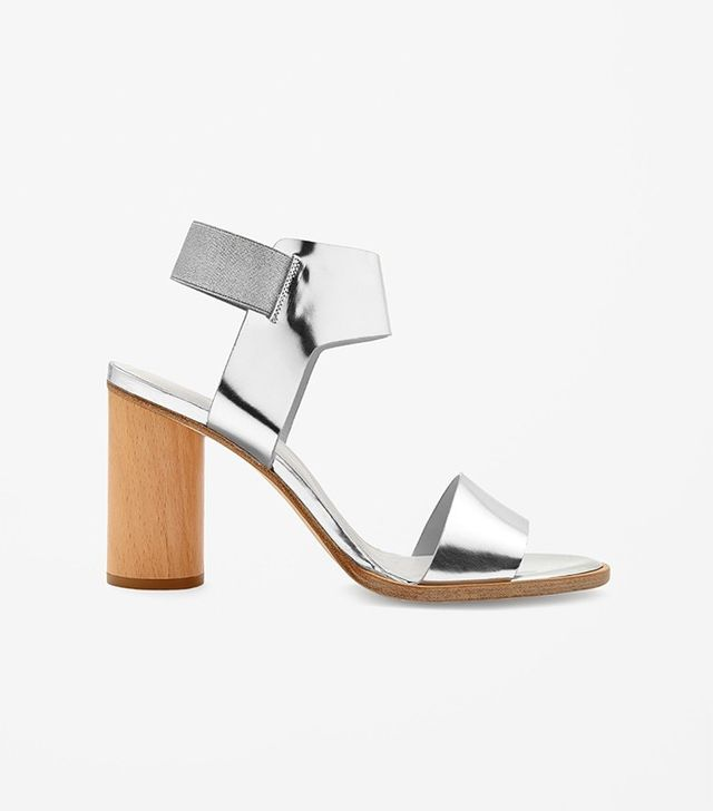 COS Wooden Heel Strap Sandals