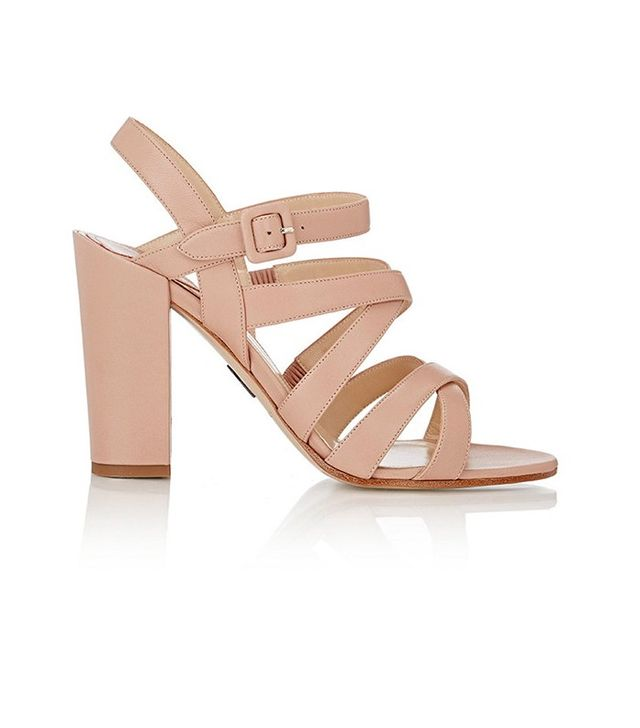Paul Andrew Lotus Crisscross-Strap Sandals
