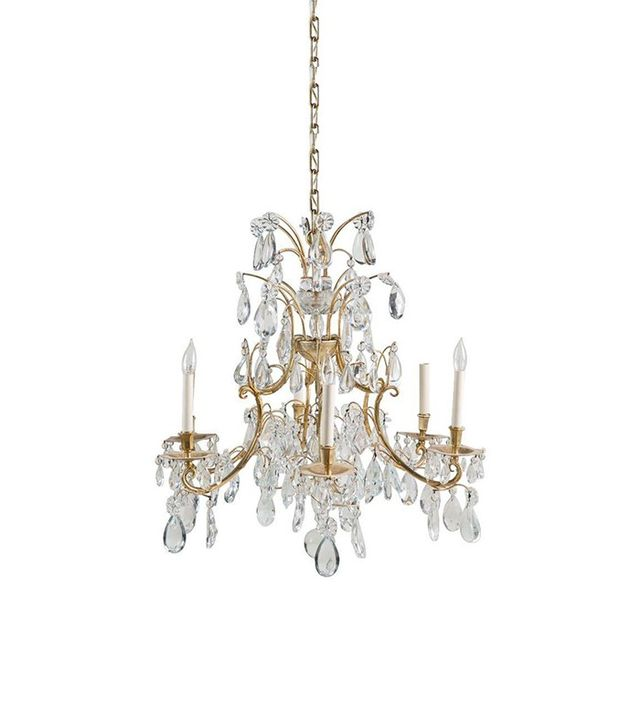 Chairish Gold and Glass Chandelier