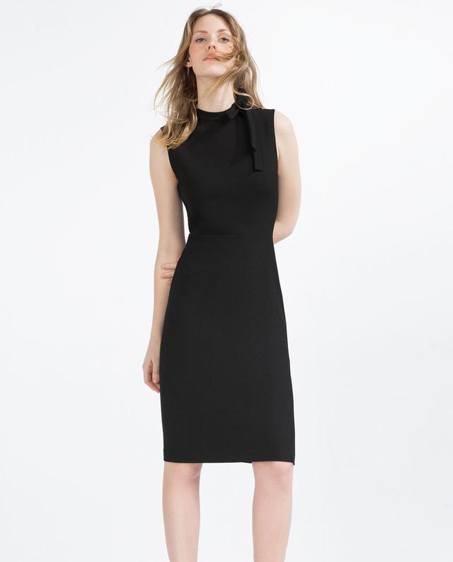 Zara Tube Dress with Tie-Up Neckline