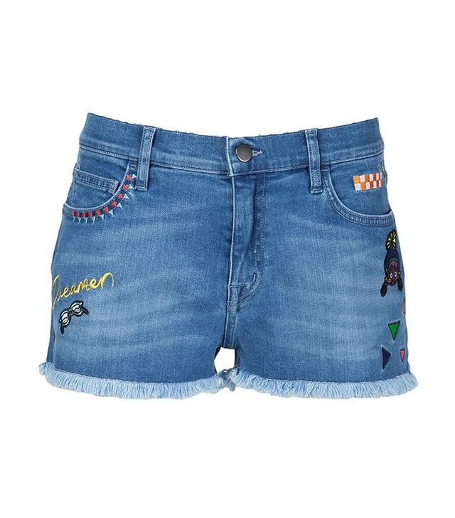 Mira Mikati Embroidered Denim Shorts