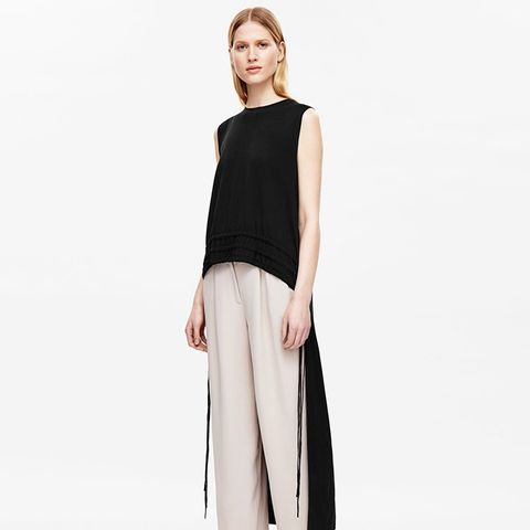 Ruched Top With Longer Back