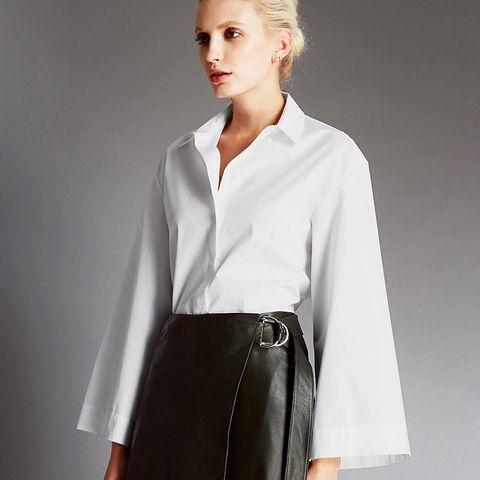 Pure Cotton Flared Sleeve Shirt
