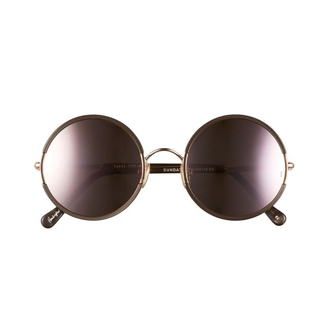 Sunday Somewhere Yetti 53mm Round Sunglasses in Rose Gold/Copper