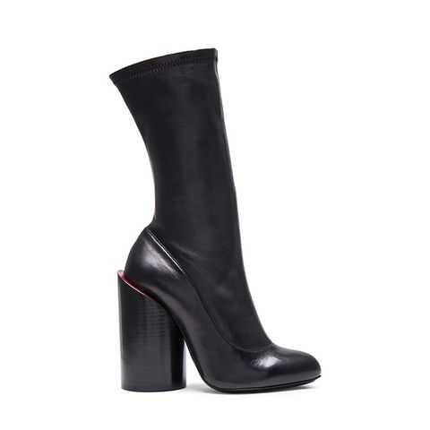 Stretch Leather Runway Boots