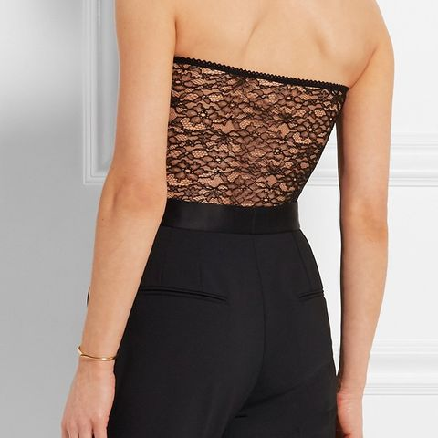 Strapless Corded Lace Bodysuit