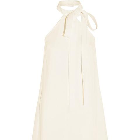 Textured-Crepe Mini Dress