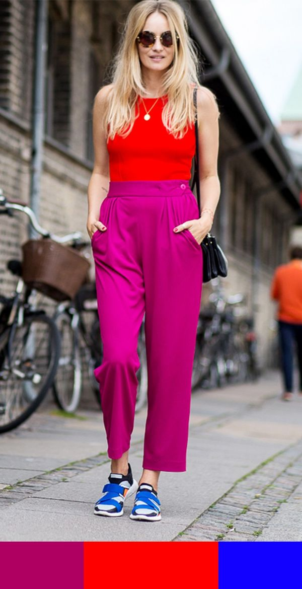 Fuchsia + Red + Cobalt
