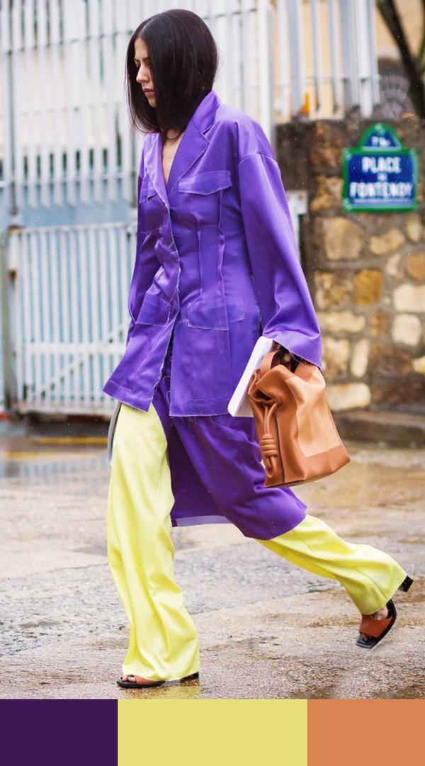 Purple + Yellow + Camel