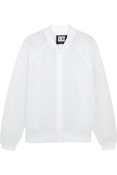 Ivy Park Honeycomb Mesh Bomber Jacket