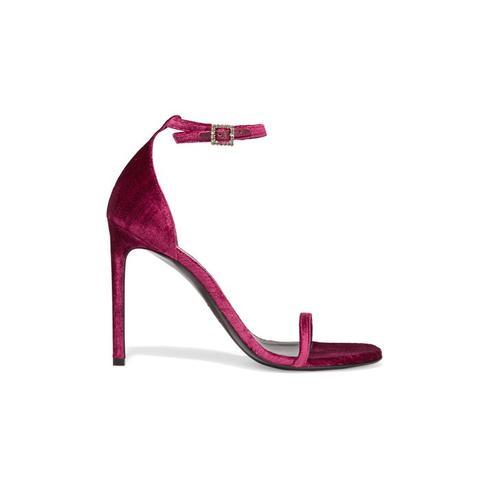 Jane Velvet Sandals