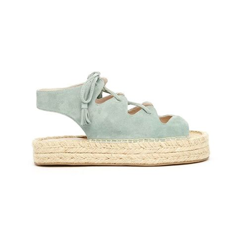 Jagged Teal Ghillie Lace Up Espadrille