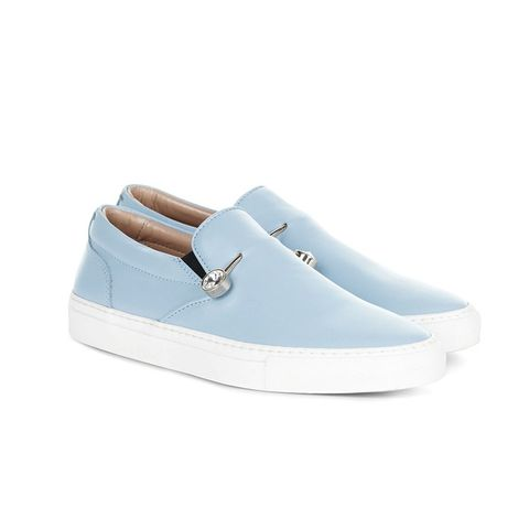 Light Blue Leather Veronica Sneakers